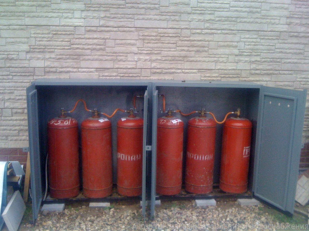 Схема подключения газового баллона на улице